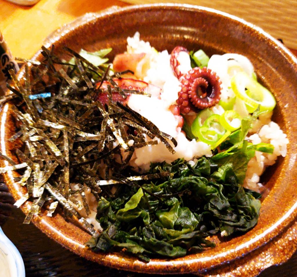 京都グルメレポート240「coffeeボン」マダコのたこ飯