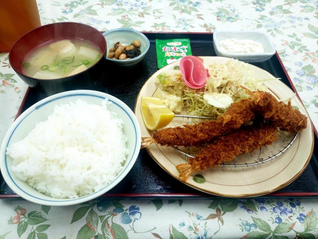京都グルメレポート再訪427「妙」海老フライ定食