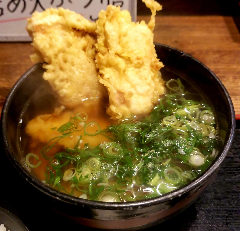 京都グルメレポート467「太郎」鶏天うどん膳