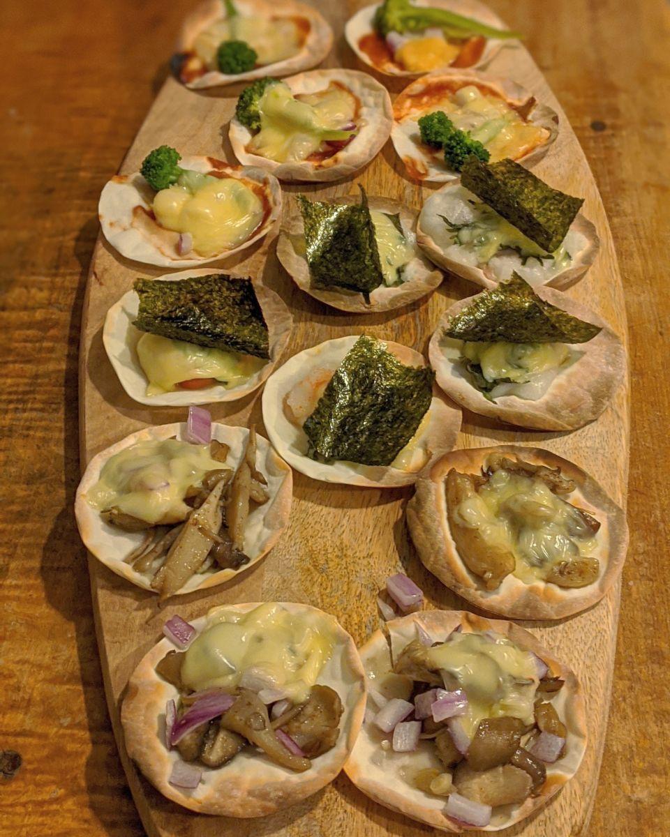 zensockskitchen〜餃子の皮で4種類のピザ〜