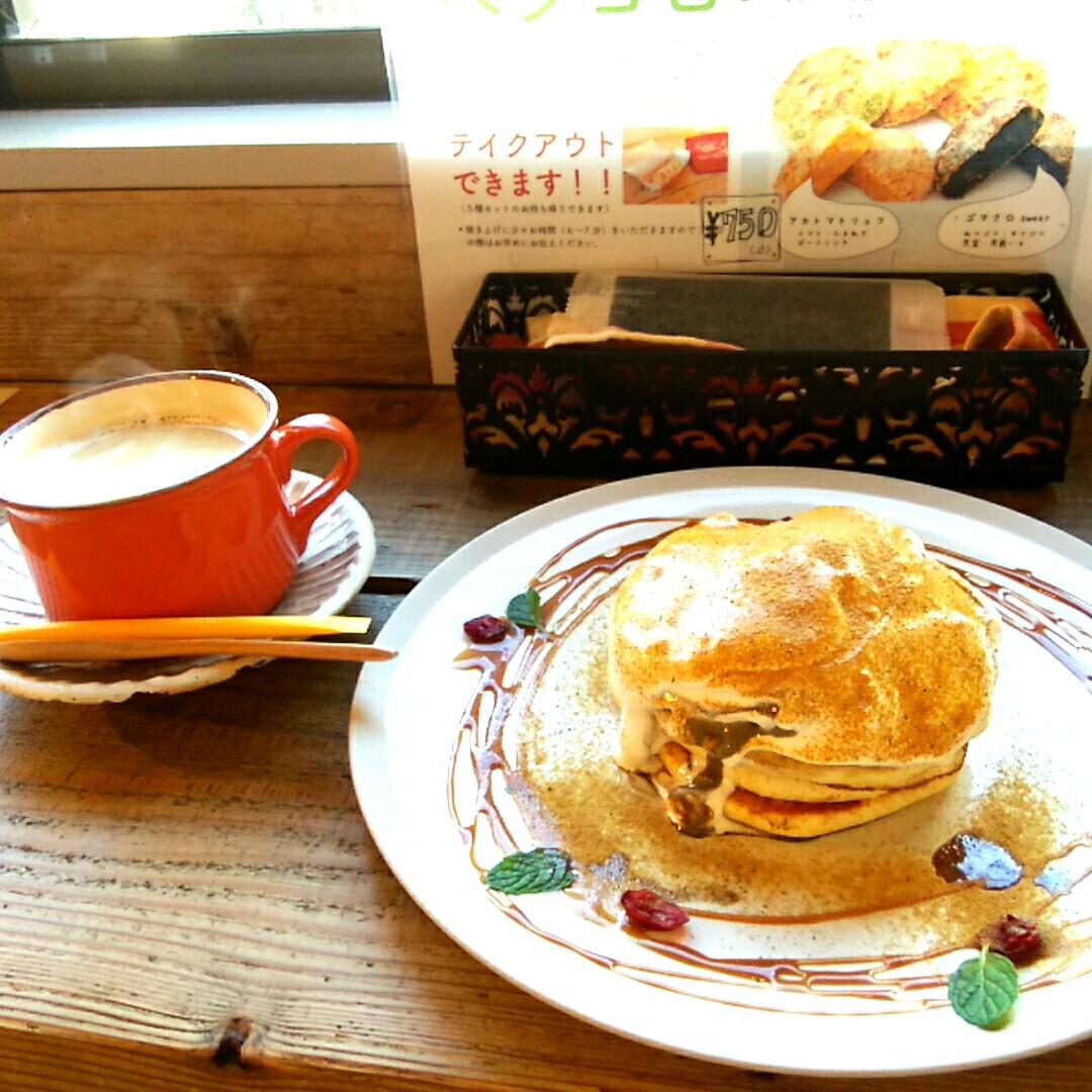 七条新町 saredoかふぇ&DININGでパンケーキ♪
