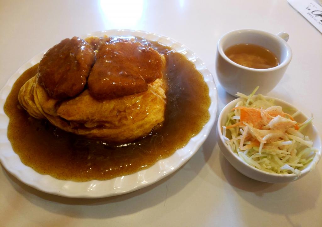 京都グルメレポート520「コーヒー・お食事 オープン」和風カツカレー