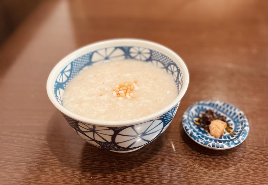 京都グルメレポート512「お粥と京野菜中華 福住」お昼のセット